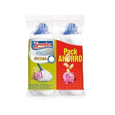 Spontex Recambio Fregona Microfibra Extra (2 uds)