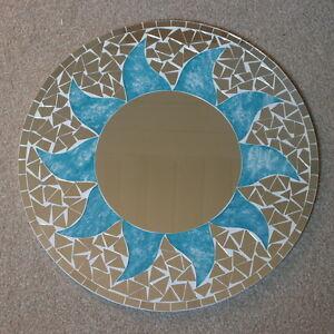 Details Zu Superb Hand Gefertigt Mosaik Spiegel Sonne Design Blau Turkis Farbe 40 Cm Breit