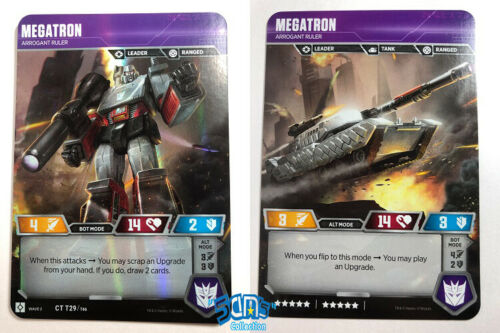 Transformers TCG Megatron CT T29-T46 Rise of the Combiners Character card