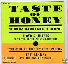 45 RPM EP LLOYD MAYERS ART BLAKEY TASTE OF HONEY