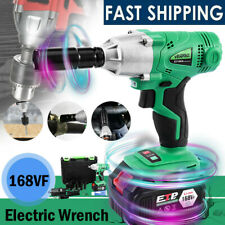 Cordless Electric Impact Wrench Gun 12 Driver Drill Withbattery 3300 Nm 168v