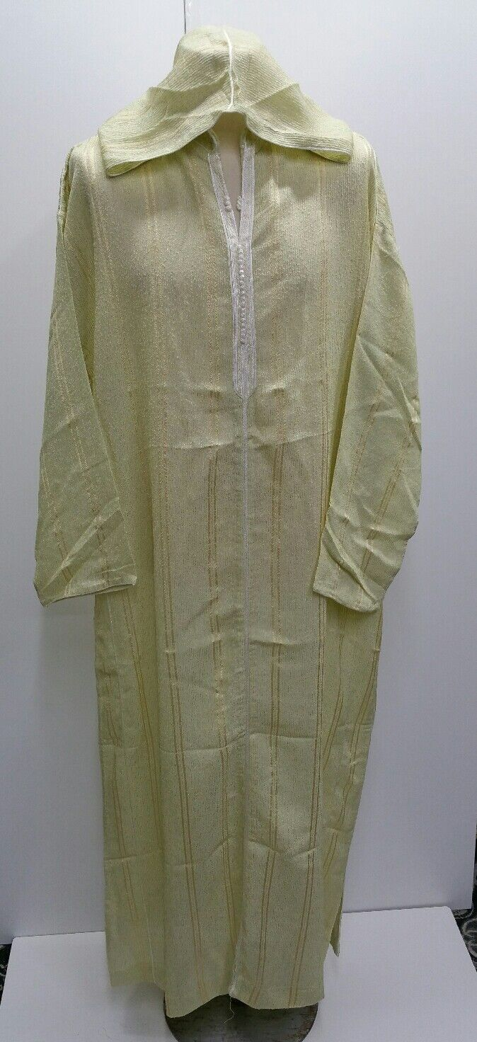Size 58 Men Mgoldccan hooded thobe. djelleba.jubba.thobes.100% cotton- Reduced