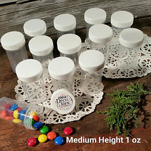 12-Pill-Jars-2-034-tall-Screw-White-Cap-1-ounce-Drug-Travel-Container-3812-USA-New