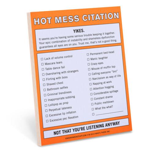 Knock Knock Hot Mess Citation Nifty Notes