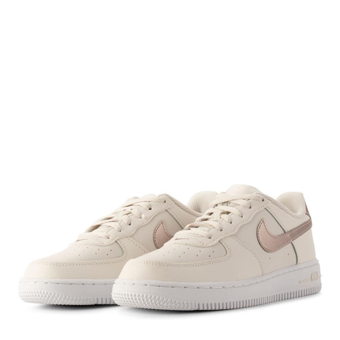 Scarpe sport bambina NIKE Air Force 1 PS pelle bianco crema e bronzo 314220 021