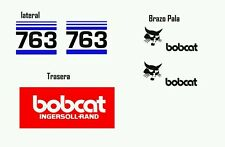 Juego de Pegatinas Adhesivos Stickers Bobcat 763 Sticker Aufkleber Autocollant