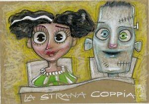 ANGELO BARILE - LA STRANA COPPIA - pastello su carta - Italia - ANGELO BARILE - LA STRANA COPPIA - pastello su carta - Italia