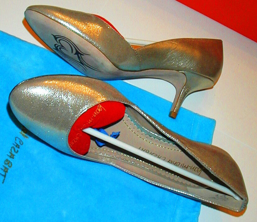 NIB Ladies  7 Jean -Michel Cazabat DESIGN PUMPS 2.5 HEELS Scarpe Glistening oro  ordina ora goditi un grande sconto