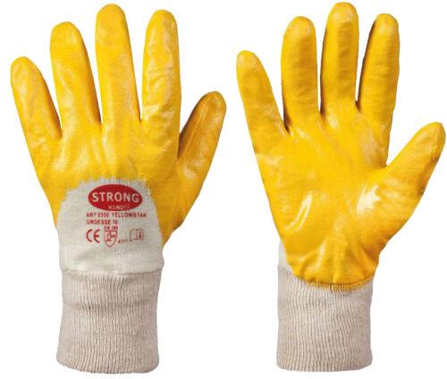 12x Arbeitshandschuh Yellowstar EN 388 Nitril Gr 10