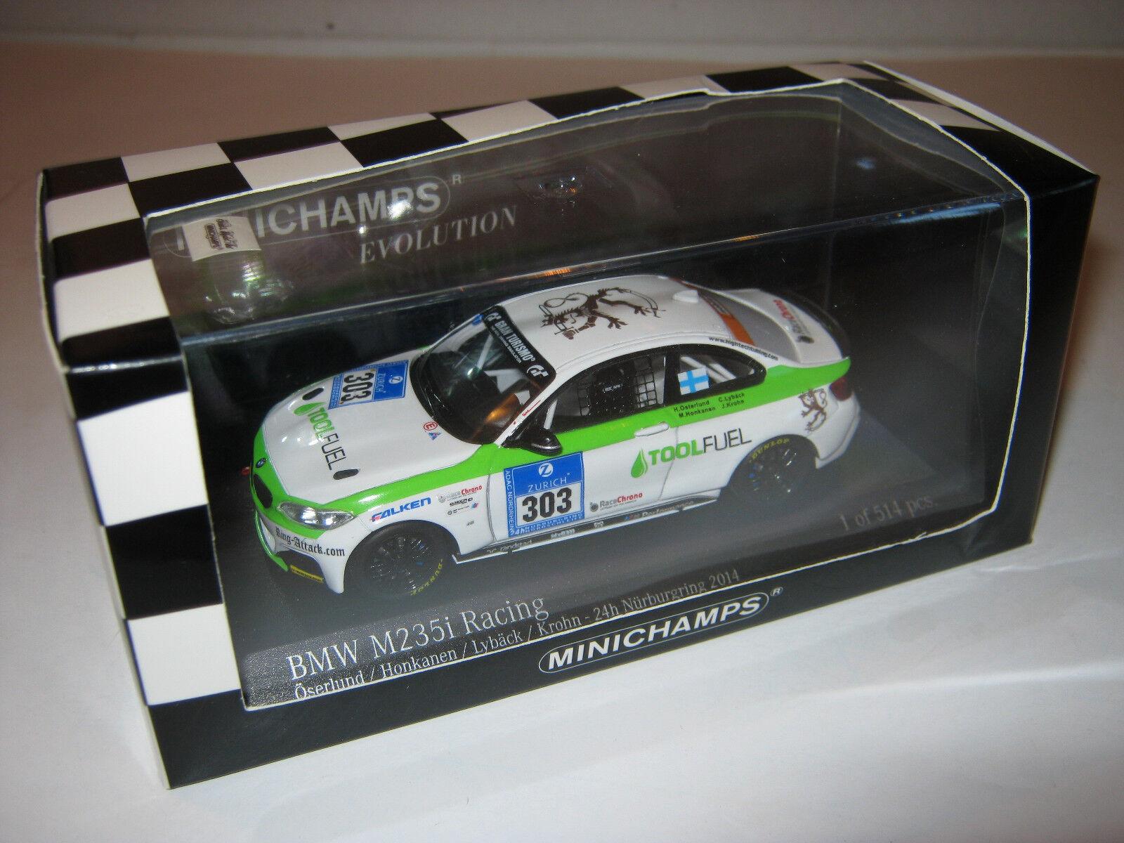 1 43 BMW M235i Osterlund Osterlund Osterlund ADAC 24 hrs. Nürb 2014 Minichamps 437142403 OVP new b2ae10