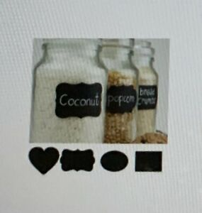 Details about  /Chalkboard Blackboard Chalk Board Stickers Craft Kitchen Jar Labels Tags Black