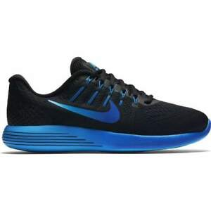 dc4f3d72146bc Nike Men s Lunarglide 8 - Black Deep Royal Blue Hyper Cobalt (843725 ...