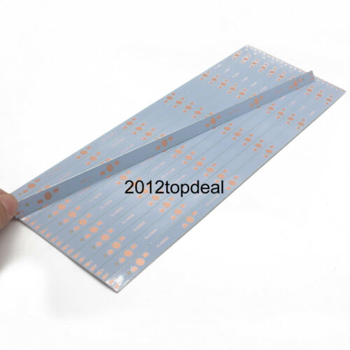 10pcs 30CM x 1CM Aluminium PCB Circuit Board for 6 x 1w,3w,5w LED in Series