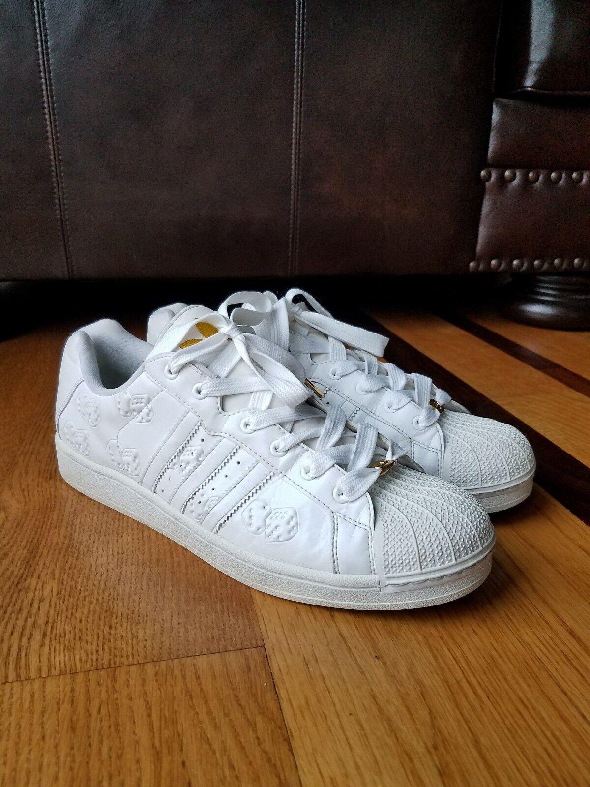 ADIDAS '06  High Roller  White Shell Toe Sneaker shoes Trefoil Ultrastar Dice 13