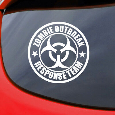 ZOMBIE OUTBREAK RESPONSE TEAM STICKER DECAL VINYL CAR THE WALKING DEAD BIOHAZARD