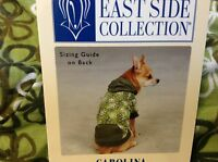 East Side Collection Clothing Size S/m 14 Length Green Flowers Hoodie Pullover