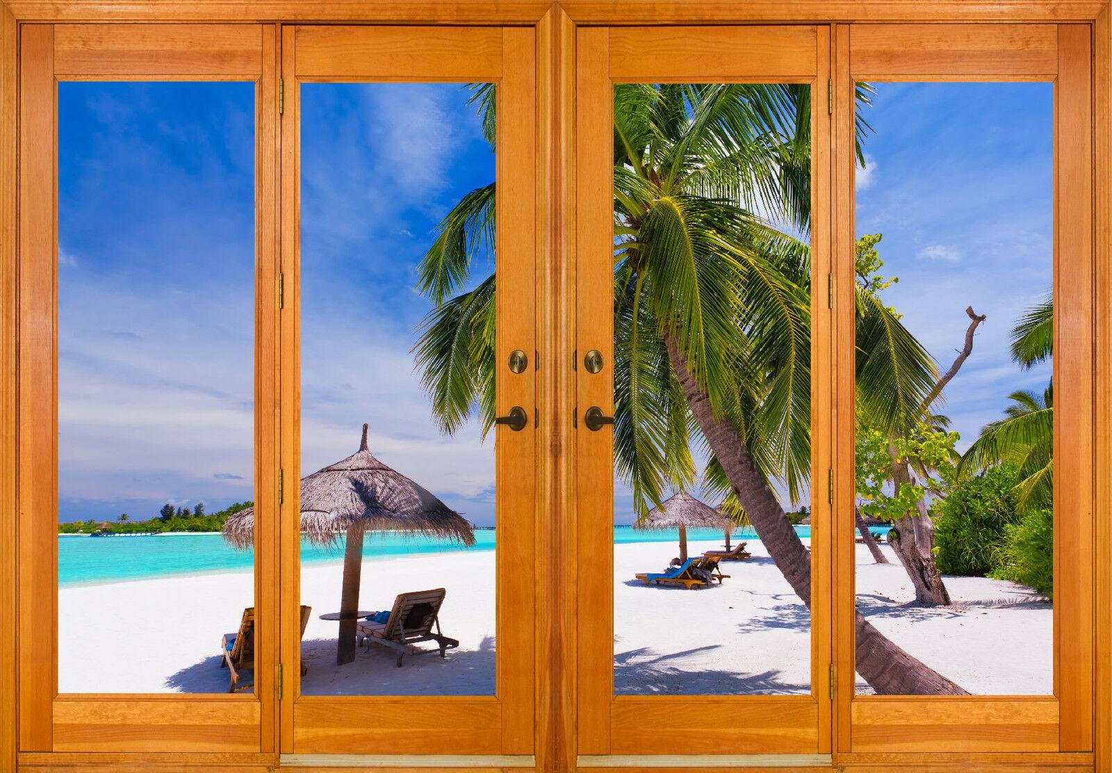 Aufkleber Fenster Schein Auge Deko der Tropen Ref 2573 (10 Größe)
