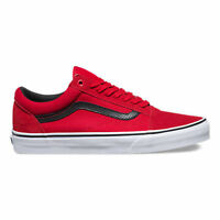Vans Old Skool Skate Shoes (new) C&p Racing Red / Black Free Ship Mens Size 7-13