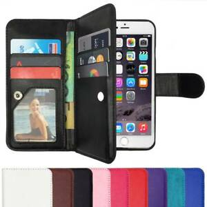 Wallet-Magnetic-Flip-Case-PU-Leather-Cover-for-Apple-iPhone-5-SE-6-6S-Plus-7-8-X