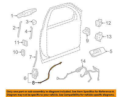 GM OEM Front Door-Lock Cable 25880301