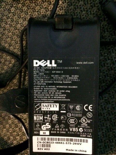GENUINE DELL DA90PS0-00 P//N XD757 Laptop Power Supply ADP-90AH C 19.5V 4.62A