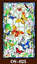 Self-adhesive Window Film Light Filter Church Stained Glass Sticker Opaque Retro