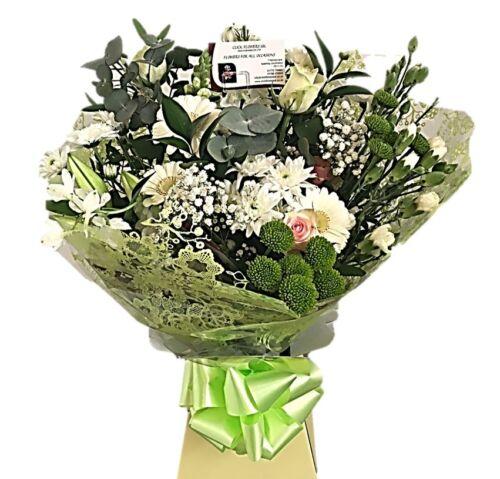 Flores frescas Real entregado UK Entrega gratuita doble crema Ramo De Flores