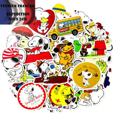 PEANUTS Lot autocollants stickers thème SNOOPY