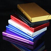Damen ALUMINIUM Metall Zigaretten Etui Box Zigarettendose mit Magnet Schlank