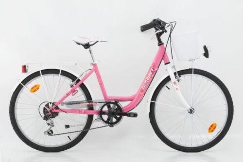24 Zoll Kinderfahrrad Cityfahrrad Mädchenfahrrad Kinder City Fahrrad Citybike