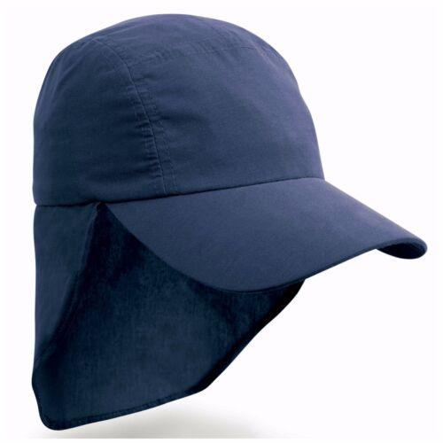 Childrens Sun Legionnaire Hat Cap Kids Junior Childs Neck Flap Protection Kepi