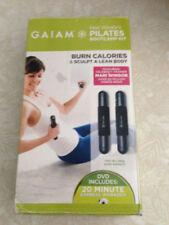 54536 Bootcamp Pilates DVD Mari Set Weights Gaiam Kit Hand Winsor