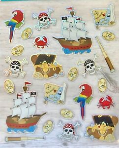 Foil-Pirate-Stickers-Papercraft-Planner-Party-Invites-Cards-Treasure-Gold-Skull