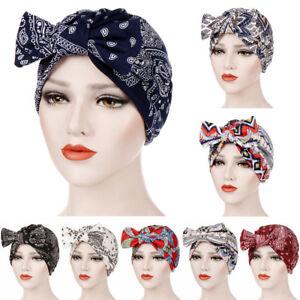 Scarf-Hijab-Head-Wrap-Stretch-Cancer-Chemo-Cap-Muslim-Bowknot-Women-Turban-Hat