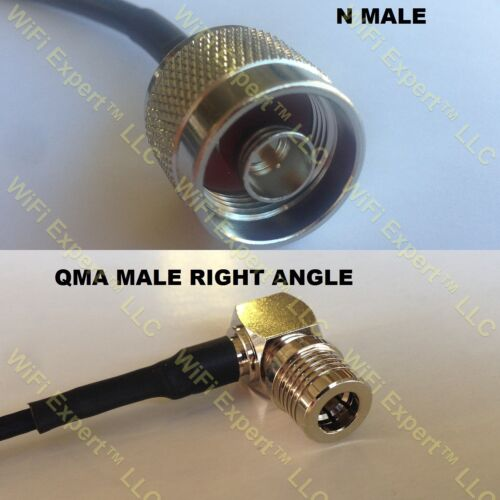 USA-CA RFC240UF N MALE to QMA MALE ANGLE Coaxial RF Pigtail Cable