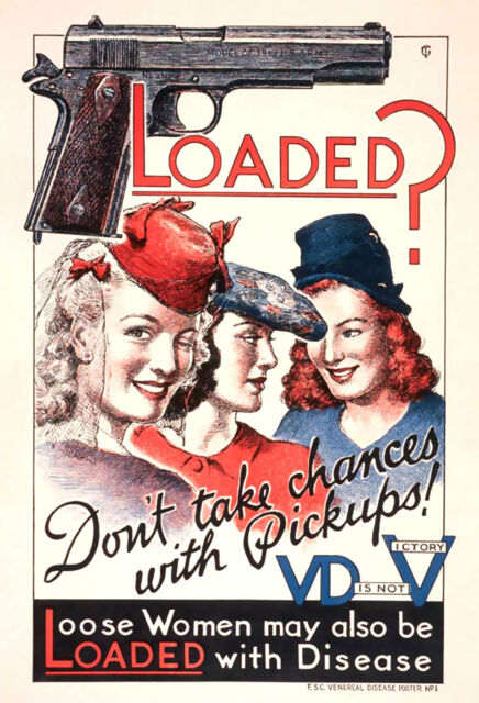 World War Two V for VD Is Not V For Victory Medical Poster A3 Print