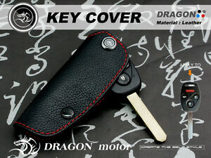 Leather Key fob Holder Case Chain Cover FIT For HONDA ACCORD CR-V2 CR-Z 131A
