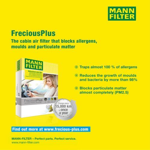 Homme-Filtre Biofunctional Pollen Filtre Intérieur Filtre pour les personnes allergiques FP 8430