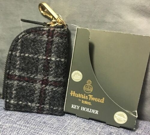 Harris Tweed Keyring Wallet Men/'s Keychain With Pouch