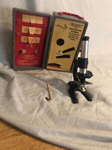 vtg-1956-S-16-gilbert-microscope-w-box-In-Great-Shape