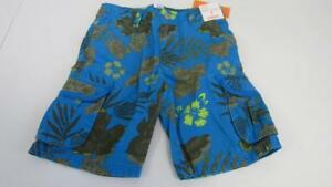 Gymboree-Desert-Day-Camp-Blue-Floral-Hawaiian-Classic-Fit-Shorts-Size-7-8-NEW