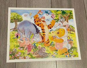 DISNEY STORE UK EXCLUSIVE LITHOGRAPH PRINT EASTER WINNIE THE POOH COMMEMORATIVE