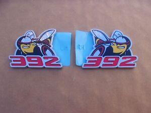 GENUINE-MoPar-2011-19-Challenger-Charger-Scat-Pack-392-Bee-Emblem-Ornament-PAIR
