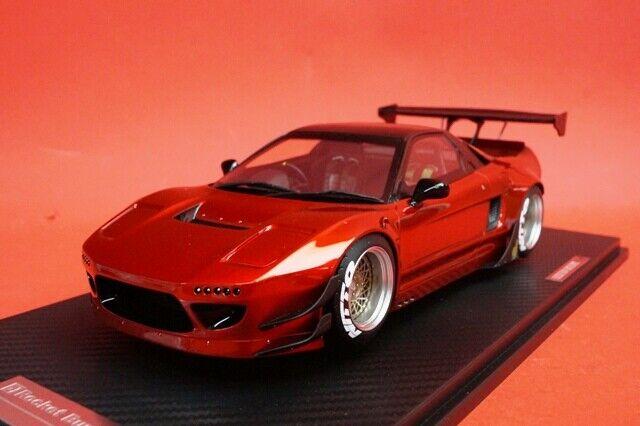 18B03-65 onemodel 1 18 Honda NSX Rocket Bunny chrome red model cars