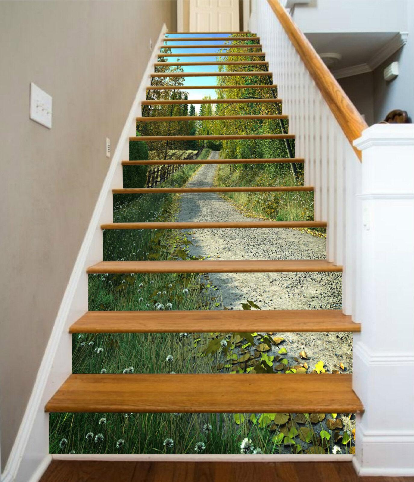 3D Wald Spur 894 Stair Risers Dekoration Fototapete Vinyl Aufkleber Tapete DE