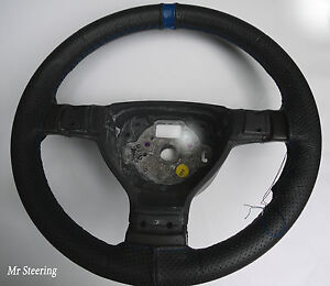 FITS DAF 95 XF 97-05 REAL PERFORATED LEATHER STEERING WHEEL COVER GREY STITCHING
