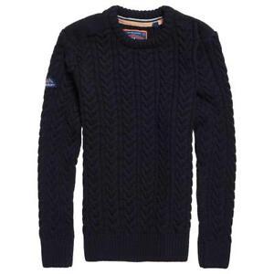 maglia blu S nero girocollo con Maglia Taglie in da uomo da navy uomo Xxxl Superdry YPp8Yz