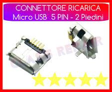 CONNETTORE RICARICA Micro USB 5 PIN - 2 Piedini CARICA x TABLET -  SMARTPHONE
