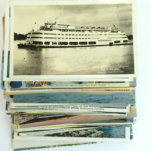 70-1900-1970-039-s-Lot-of-Boats-Ships-Postcards-Steamboats-VTG-Posted-amp-Unposted