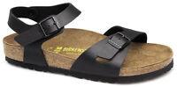 Birkenstock Rio Birko-flor Cork Double Strap Sandals - Black (art: 031791)